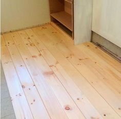 How to Install Beautiful Wood Floors Using Basic Unfinished Lumber - The Creek Line House