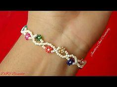 Homemade Jewelry, Diy Jewelry, Jewelry Bracelets, Jewelry Making, Making Bracelets With Beads, Friendship Bracelets With Beads, Peyote Beading Patterns, Beaded Jewelry Patterns, Beaded Bracelets Tutorial