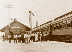 Weimar, Texas depot and train