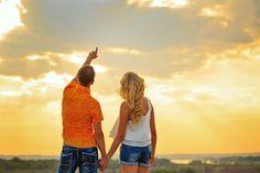 Loving couple looking at sky by Elena Vagengeim on @creativemarket