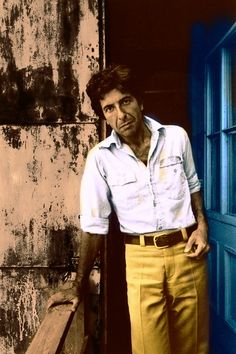 the 70's high waisted slack that slightly flairs from the hip is making a come back. this will look good on you.  Leonard Cohen