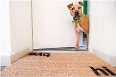 7. Hi #& Bye - 10 Darling DIY #Doormats ... → #Lifestyle [ more at http://lifestyle.allwomenstalk.com ]  #Spray #Lady #Coats #Crafty #Kinsey