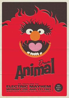 Retro Muppet Concert Posters by Michael De Pippo