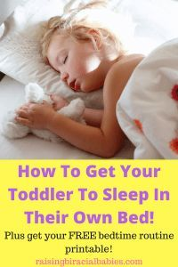 Toddler sleep habits can be challenging. Read these tips to help transition a toddler into their own bed. Plus get a free bedtime routine printable! Toddler Sleep, Kids Sleep, Baby Sleep, Cosleeping Toddler, Gentle Parenting, Parenting Advice, Parenting Classes, Bedtime Routine Printable, Toddler Behavior