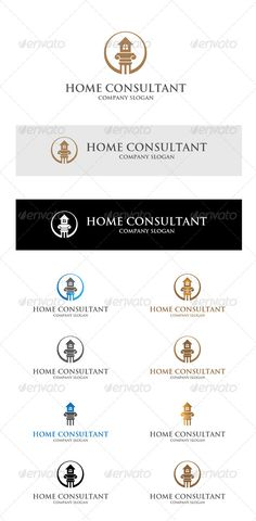Home Consultant by baywo Logo 100 vector easy to edit. font: http://www.ufonts.com/download/trajan-bold/94224.htmlFile : Adobe Illustrator CS5 AI & Vector