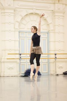 in rehearsal.. Ksenia Ovsyanick