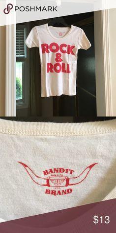 Bandit brand rock n roll tee Stretch fabric, never worn! Bandit brand Tops Tees - Short Sleeve