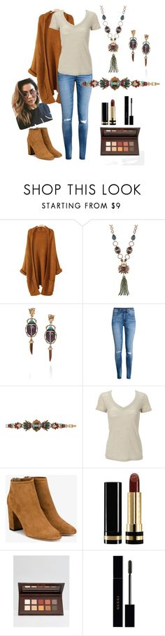 """Beetle Love"" by beinspiredbykimberly on Polyvore featuring Chloe + Isabel, H&M, Simplex Apparel, Aquazzura, Gucci, Barry M and MINKPINK"