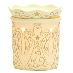 A chorus of heavenly angels shines brightly in this elegant warmer. Made of porcelain, Heavenly is translucent when turned on and has a beautiful glow.