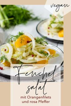 Italian fennel salad with blood orange and pink pepper - An Italian fennel salad with orange: combined with pink pepper, it becomes a great starter. Fennel Salad, Orange Salad, Breakfast Pizza, Veggie Recipes, Veggie Food, Blood Orange, Food And Drink, Veggies, Stuffed Peppers