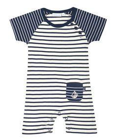 Look at this #zulilyfind! Navy Breton Stripe Romper - Infant #zulilyfinds