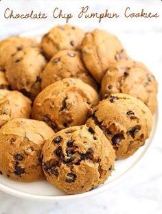 Chocolate chip pumpkin cookies^