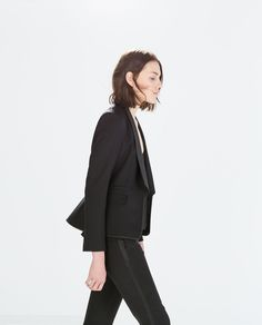 BLAZER WITH COMBINED LAPEL from Zara