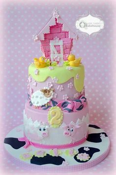 Farm animals girly cake