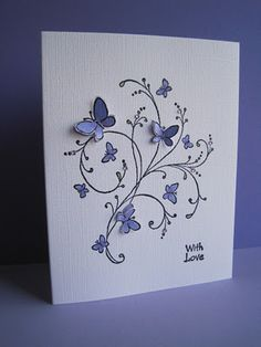 Handmade Card ideas ... rubber stamped, embossed, popped