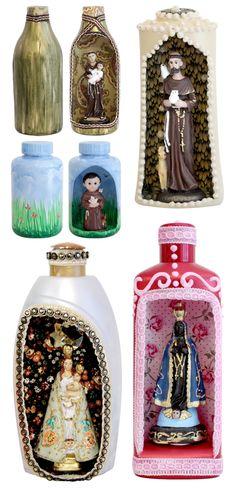 Lindos relicários feitos de frascos plásticos, que foram embalagens de cremes, xampus e outras perfumarias. Você pode aproveitar esta aula, reciclar as suas embalagens vazias e ainda contrib…