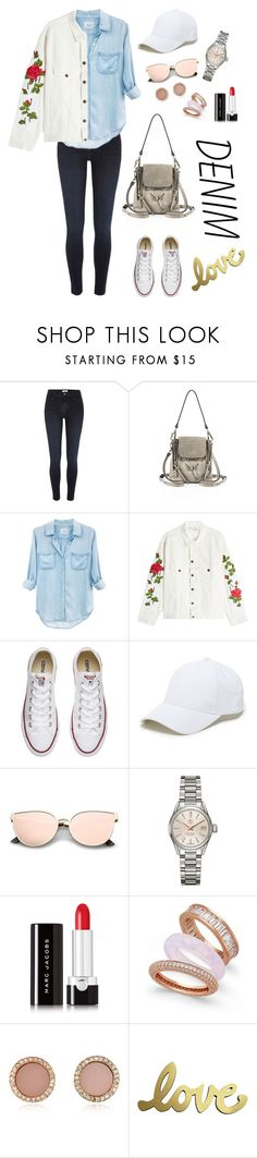 """""""Denim love"""" by catherine-lim-jones ❤ liked on Polyvore featuring River Island, Chloé, Rails, Off-White, Converse, Sole Society, TAG Heuer, Marc Jacobs, Paul & Pitü Naturally and Michael Kors"""