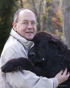 Peter Maniate with Gander Bear
