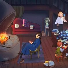 Howl's Moving Castle / Howl no Ugoku Shiro Howl's Moving Castle, Studio Ghibli Art, Studio Ghibli Movies, Howl And Sophie, Animes Wallpapers, Funny Wallpapers, Animation, Hayao Miyazaki, Totoro