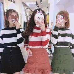 Korean Dress, Korean Outfits, Korean Best Friends, Best Friend Outfits, Korean Boys Ulzzang, Uzzlang Girl, Chill Outfits, Korean Fashion Trends, Cute Friends