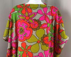 Funky Vintage Handmade Floral Pillowcase Shirt Dress One Size Halloween #Handmade #ShirtDress #Casual