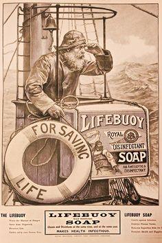 advertisement for the well-known Lifebuoy soap. Vintage Labels, Vintage Ephemera, Vintage Paper, Vintage Ads, Vintage Images, Vintage Signs, Vintage Prints, Vintage Posters, Vintage Newspaper