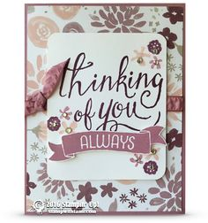 CARD: Thinking of You from the Time of Year set   Stampin Up Demonstrator - Tami White - Stamp With Tami Crafting and Card-Making Stampin…