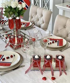 Table Settings, Chair, Norway, Furniture, Spring, Home Decor, Decoration Home, Table Top Decorations, Place Settings