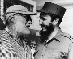 Ernest Hemingway e Fidel Castro, Maio de 1960, Cuba.