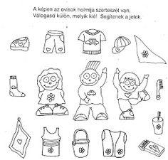 Nyomtatható játékos feladatlapok óvodás gyerekeknek.