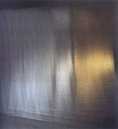 Toshiko Horiuchi - 'Atmosphere of the Floating Cube' - knitted gold & silver Mylar with linen. National Museum of Modern art, Kyoto.