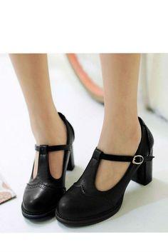 Vintage Black T-Strap High Heel SHoes #30-50 #app-women #high-heels #meta-filter-color-black #meta-filter-size-5 #meta-filter-size-5-5 #meta-filter-size-6 #meta-filter-size-6-5 #meta-filter-size-7 #meta-filter-size-7-5 #meta-filter-size-8 #newshoes
