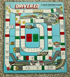 Vintage- Official Driver Ed Driver Education 1973 Board Game by Cadco for Teens Ed Game, Drivers Ed, Driving Tips, Traditional Games, Driving School, Arcade Games, Board Games, Transportation, Boards