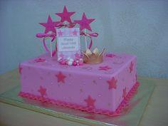 Pink Princess Cake - 1/4 sheet cake decorated all with fondant