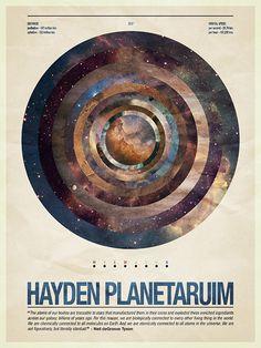 Poster for the Hayden Planetarium.