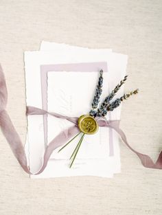 An amazingly romantic lavender wedding inspiration shoot on SMP -- http://www.StyleMePretty.com/virginia-weddings/leesburg/2016/05/30/wine-crepes-and-lavender-all-things-french-live-in-this-provencal-wedding-inspiration Invitations: Jess Creates   Calligraphy: Sincerely Amy Designs   Alicia Lacey Photography