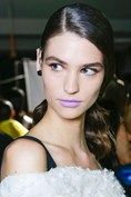 Prabal Gurung/ pale pink, lilac or a bold tomato red lips