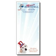 Full Color Notepads | Patriotic Pup