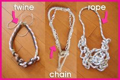 DIY Knotty Necklaces