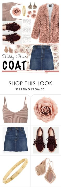 """""""Rose Coat"""" by lillian-talbot ❤ liked on Polyvore featuring OLYMPIA Activewear, Yves Saint Laurent, Cartier, Kendra Scott and Selim Mouzannar"""