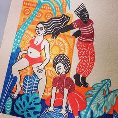 Viiiibraaations, no better feeling than to dance 💚💛❤️ Dancehall Reggae, Dance Hall, Studio Art, Art Studios, Athleisure, Feel Good, Bass, Illustrations, Feelings
