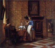 Pieter de Hooch (Rotterdam 1629 – Amsterdam 1684)  Interior with Figures, c. 1664   MOMA