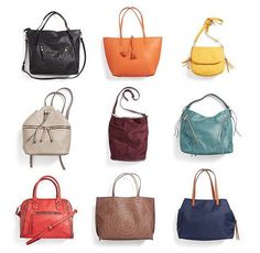 Colorful handbags for fall