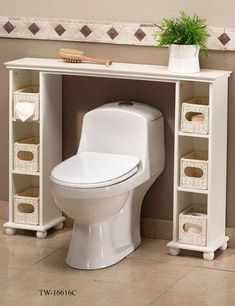Over the toilet spacesaver - two CD towers and a shelf. - get taller cd tower, higher shelf? Bathroom Shelves, Bathroom Storage, Toilet Storage, Cd Storage, Wooden Bathroom, Storage Units, A Shelf, Wood Shelf, Home Organization
