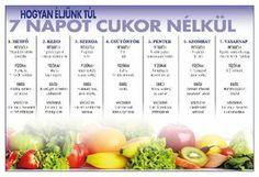(Kattints a képre a nagyításért!) Nyomtasd ki és tedd a hűtőre! Healthy Chicken Recipes, Diet Recipes, Healthy Drinks, Healthy Snacks, Yoga Training, Health And Wellness Center, Healthy Eating Guidelines, Health Trends, Vegetable Nutrition