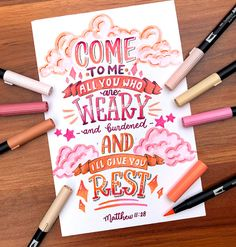 Selbstmotivation Matthew How Do We Know What Time It Really Is? Brush Lettering Quotes, Hand Lettering Alphabet, Watercolor Lettering, Lettering Styles, Calligraphy Doodles, Calligraphy Quotes, Calligraphy Letters, Doodle Quotes, Drawing Quotes