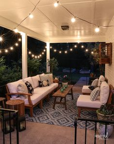Summer Decorating: Porch and Patio Ideas + VIDEO for Stylish Outdoor Spaces - Summer Porch Decor & Front Door Decor Resin Patio Furniture, Backyard Furniture, Porch Furniture, Backyard Patio, Outdoor Furniture Sets, Rustic Furniture, Porch And Patio, Antique Furniture, Furniture Design