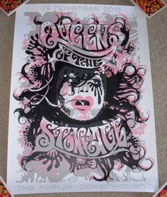 Queens of The Stone Age Concert Gig Tour Poster 11 29 13 Copenhagen 2013 | eBay