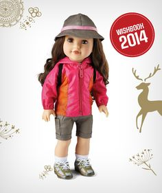 """Camping is a lot more fun with a friend. Why not bring along Newberry's Camper Girl """"Kenley"""" Fashion Doll?"""