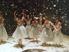 "ryanishka: "" going through some old pictures from this past year and found these gems…after the curtain closes the first act on the last show of nutcracker, it's customary to dump ALL OF THE SNOW AT..."
